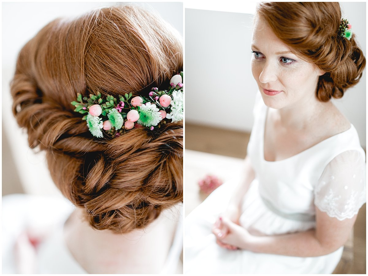 Details noni Brautkleid Flowercrown